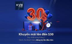 KVB PRIME KHUYỄN MÃI 30$ CHÀO ĐÓN THÁNG 7