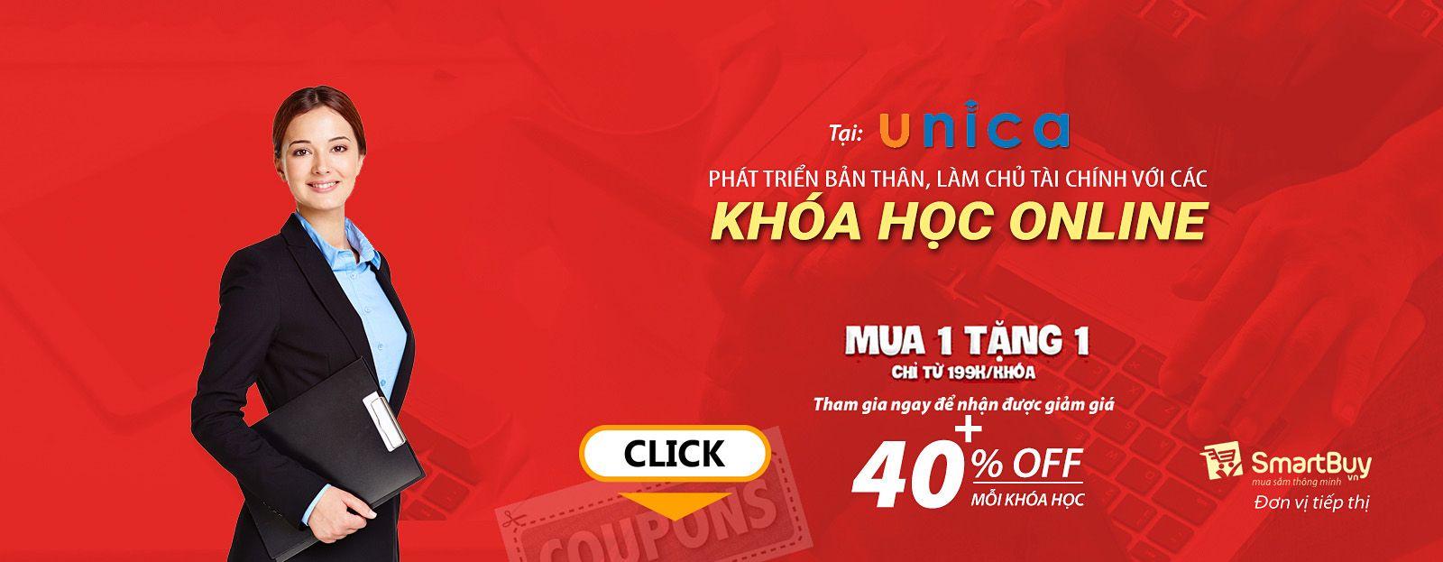 Khóa học trực tuyến cùng Unica